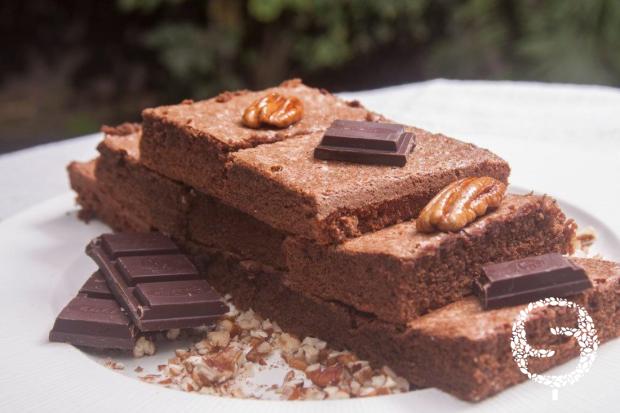 Brownies con Harina de Quinua, sin lácteos.