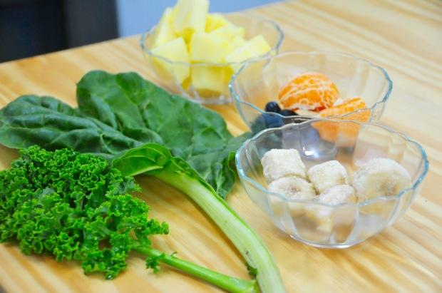 Ingredientes para mi batido verde anti dolor de cabeza